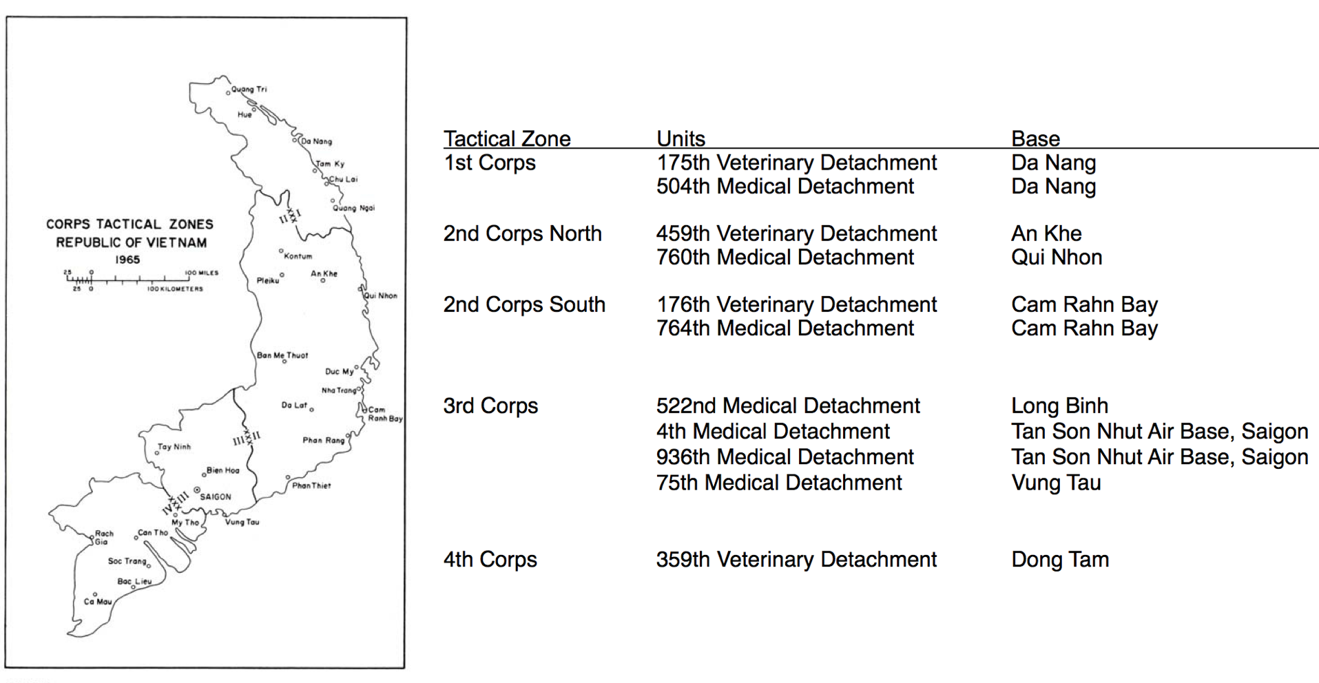 Vietnam War Dogs And An Unknown New Disease Jonathan Sellman MD - Map of us bases in south vietnam